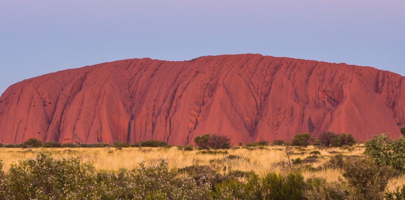 landscape photograph of Uluru in outback Australia