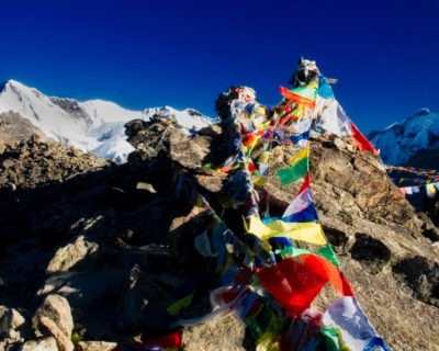 landscape photographs nepal prayer flags
