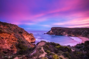 Spectacular skies sunset childers cove landscape photograph