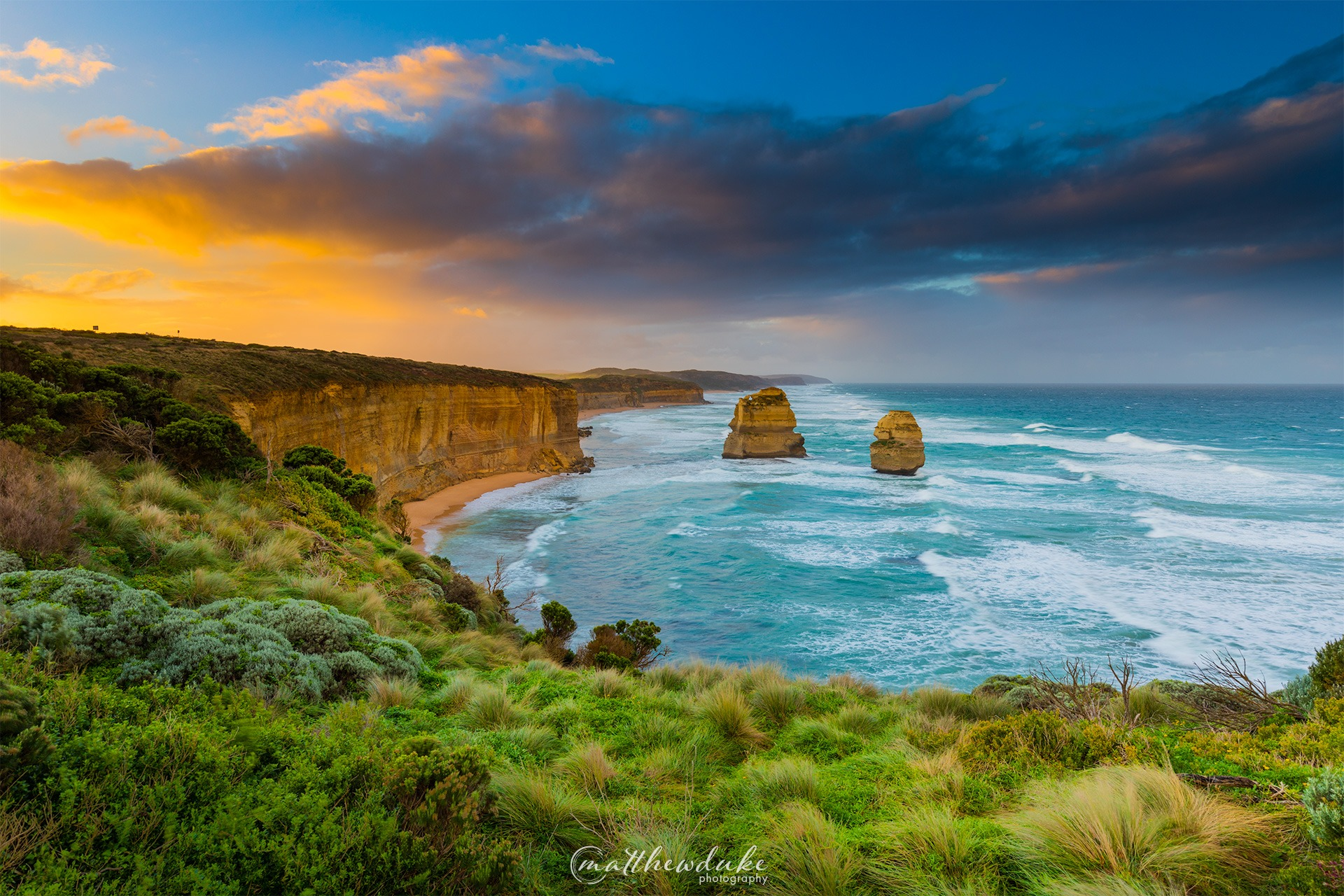 Sunrise at the 12 Apostles Great Ocean Road stunning landscape photograph
