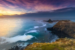 Sunrise over Pyramid Rock Phillip Island landscape photograph