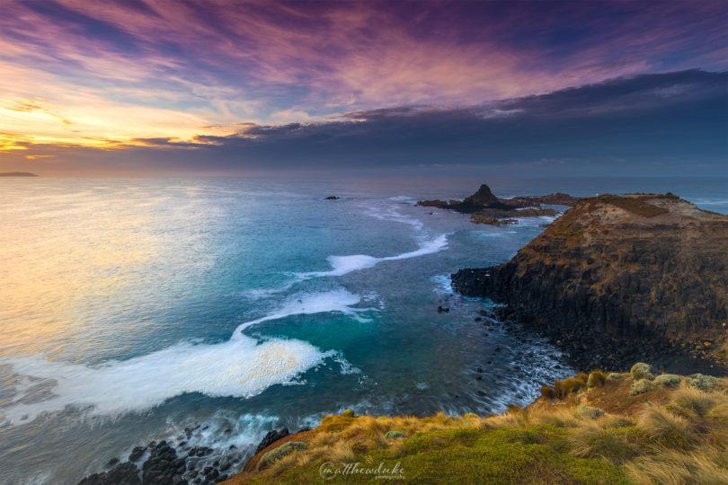 Sunrise over Pyramid Rock Phillip Island landscape photograph