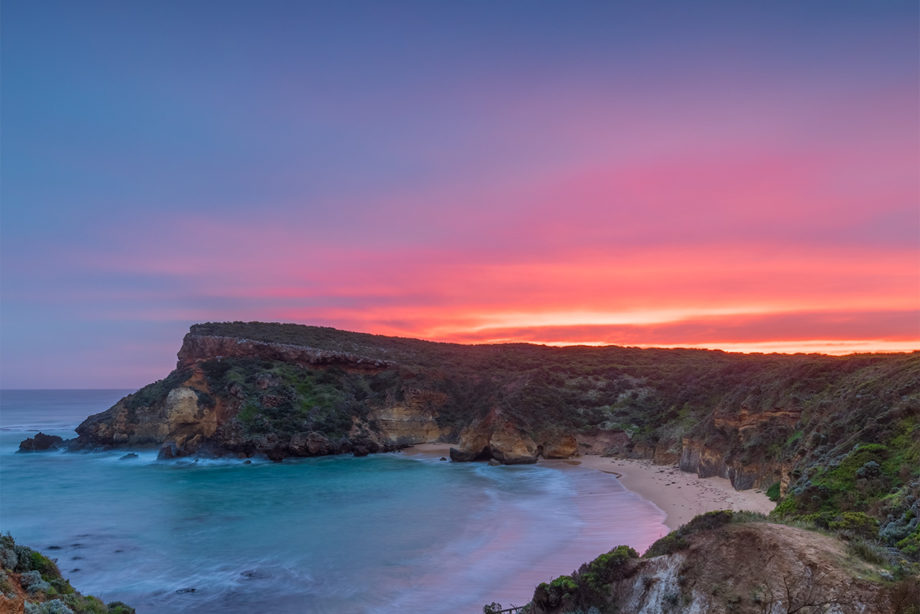 sunset childers cove great ocean road landscape photograph