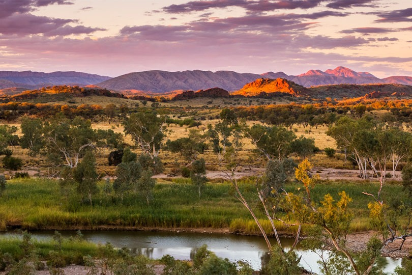 sunset finke river nt horizontal landscape photograph