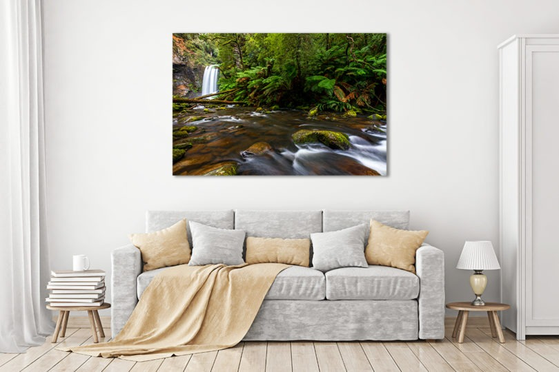 Hopetoun Falls Landscape Photograph in Living Room