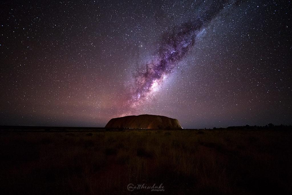 Celestial Outback Uluru Milky Way