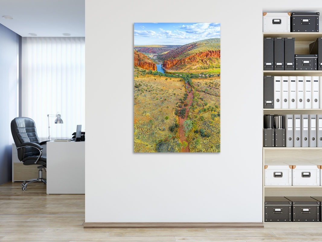 Ormiston Gorge Air Landscape Photograph in Office Room