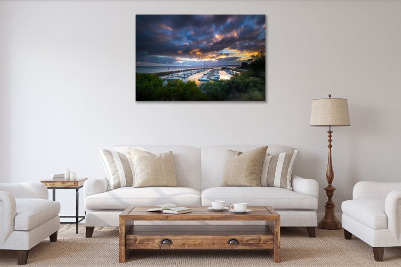 Philip Island Marina Landscape Photograph in Living Room