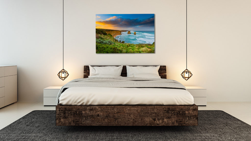 Sunrise Gibsons Beach Bedroom Web Printed on the Wall