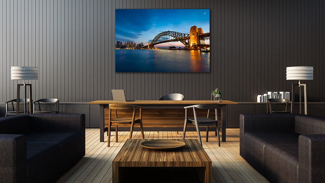 Sydney Harbour Bridge Landscape Photograph in Office