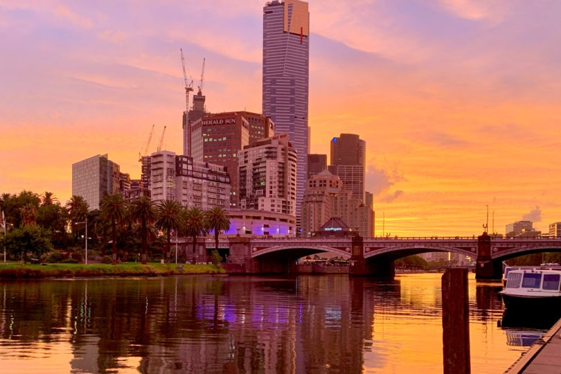 Melbourne Southbank Australia Sunset iPhone XS M Duke
